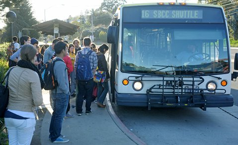 City college students make up 15 percent of MTD's bus riders. With bus revenues lagging behind demands for service, the transit district might be inclined to ask college students to pay more.