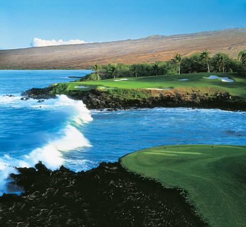 Third hole at Mauna Kea.
