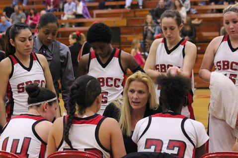 SBCC coach Sandrine Krul