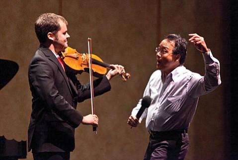 Yo-Yo Ma coaches UCSB violist Jacob Adams in a master class.