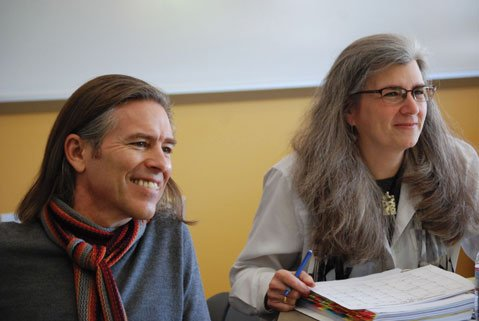 Playwright James Still and Professor Risa Brainin