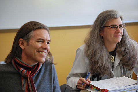 Playwright James Still and Professor Risa Brainin