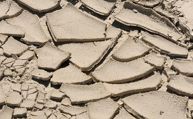 A dry riverbed in Cuyama