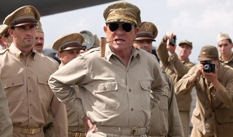 Starring Tommy Lee Jones as General MacArthur, World War II film <i>Emperor</i> charts new waters topic-wise but fails to accomplish much on the stylistic front.