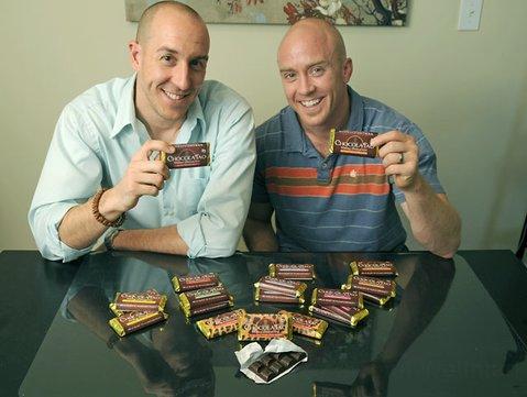 ChocolaTao founders Chef Joel Chapman (left) and acupuncturist/herbalist Traver Boehm.