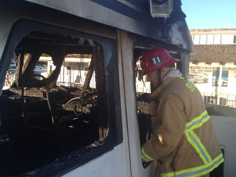 Aftermath of Condor Express fire