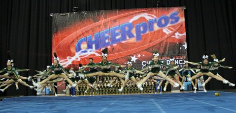 S.B. High's competitive cheer squad at the CheerPros State Championship on January 27.