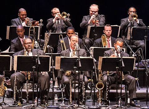 Wynton Marsalis led the Jazz at Lincoln Center Orchestra through two explosive sets before settling in for a pair of small group encores.