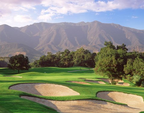 "One of the Ojai Valley Inn Golf Resort's ""Lost Holes."""