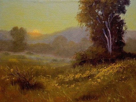 "<b>INSPIRED:</b>  ""Central Coast Sunset"" by Ron Guthrie is featured in <i>Shared Visions: 