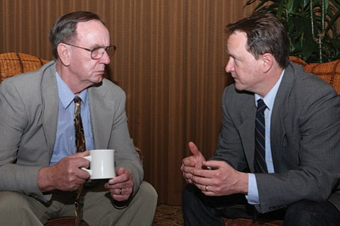 In <em>Bill W. and Dr. Bob</em>, the two men responsible for creating Alcoholics Anonymous reach out to one another as a way of escaping their addiction.