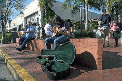 """A work of public art or an attractive nuisance? Cops want the brick bench moved; artist says, """"Preposterous."""""""
