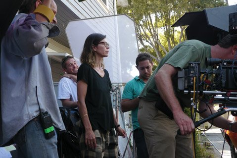 <b>ALL ACTORS ON DECK:</b> Soap-opera star Finola Hughes (with glasses) makes her directorial debut with <i>The Bet</i>, the first feature film produced by the all-volunteer, nonprofit Community Film Studio of Santa Barbara.