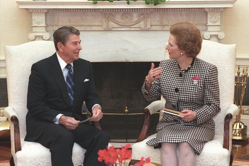 President Reagan and Prime Minister Thatcher in the Oval Office, 1988.