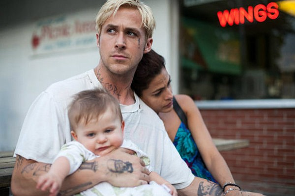 Ryan Gosling and Rosario Dawson star in <em>The Place Beyond the Pines</em>.
