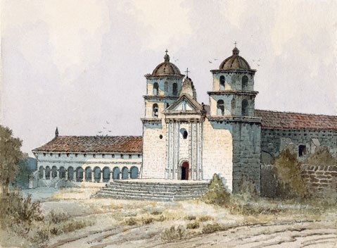 Beginning in 1897, artist Edwin Deakin traveled to all the missions of California on a pilgrimage to capture them as they fell into decay. These watercolors from that journey have not been seen until now.