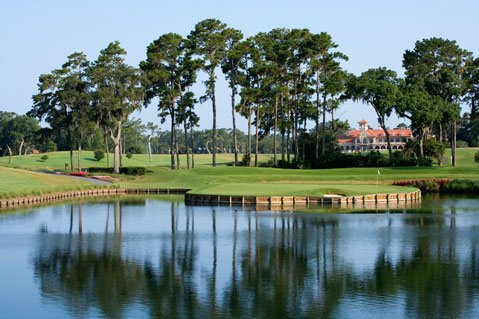 TPC  17th w/  Clubhouse