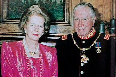 Margaret Thatcher and Augusto Pinochet