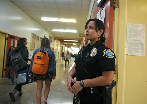 School resource officer Christina Marshall at Santa Barbara High School