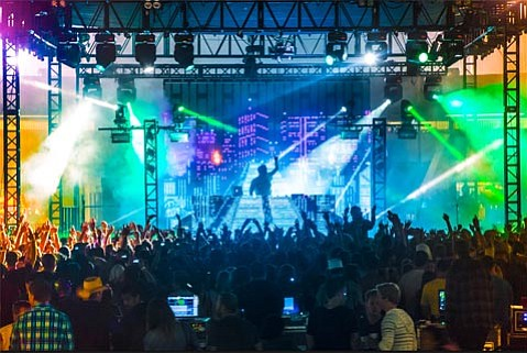 <b>CUT OFF:</b>  Citing a flurry of noise complaints from around the city, authorities ended Porter Robinson's set early, to the dismay of his fans.