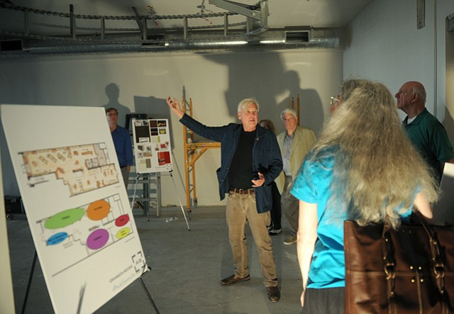 Emmett Mcdonough gives a tour of the Granada Books location currently under construction but due to open in June