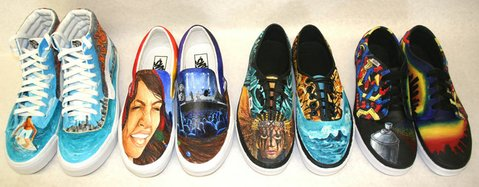 Vans shoes designed and created by Dos Pueblos High School students