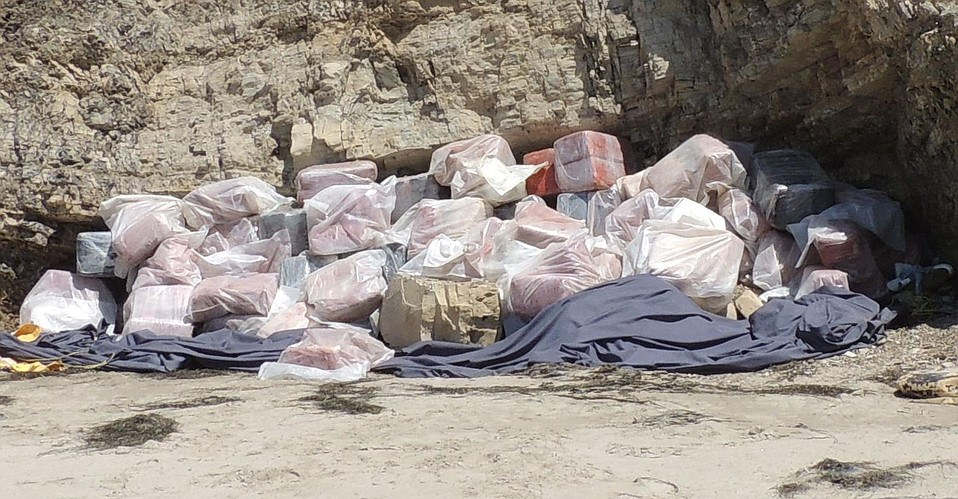 Marijuana bales discovered near panga boat