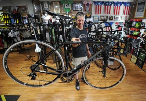 <b>MAKING OF A SUPERBIKE:</b>  As owner of Santa Barbara's Fastrack Bicycles and part of the U.S. track cycling team in the 1988 Olympics, Dave Lettieri knows how to take your $700 road bike and turn it into a lightweight, $12,000 beast fit for the tour.