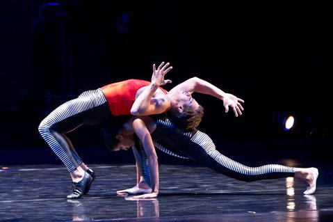 "<b>ALL-AMERICAN:</b> Rachel Hernandez and Jekyns Pelaez perform inCarrie Diamond's ""Haringduet."""