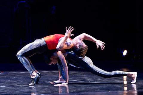 "<b>ALL-AMERICAN:</b> Rachel Hernandez and Jekyns Pelaez perform inCarrie Diamond's ""Haringduet."""