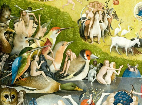 "This part of Hieronymous Bosch's ""Garden of Earthly Delights"" will be the subject of a 12'x24' painting at the upcoming I Madonnari Festival."