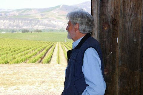 BOTANICAL BRAIN: Michael Benedict overlooks Sanford & Benedict Vineyard in the Sta. Rita Hills.