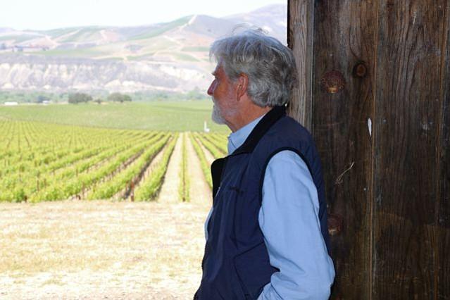 BOTANICAL BRAIN: Michael Benedict overlooks Sanford & Benedict Vineyard in the Sta. Rita Hills.