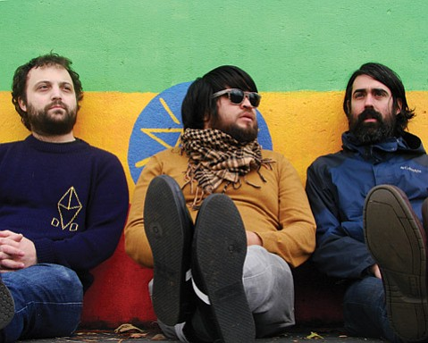 LET IT SHINE: Sun Angle (from left: Marius Libman, Papi Fimbres, and Charlie Salas Humara) bring their heady mix of punk, psych, and tropicália to Muddy Waters Café this Wednesday night.