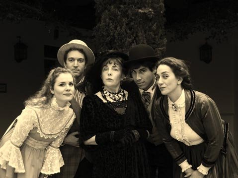 SO SINCERE: Katherine Bottoms, Josh Danyel, Jenna Scanlon, Richard Lonsbury, and Jennifer Marco star in <em>The Importance of Being Earnest</em>.