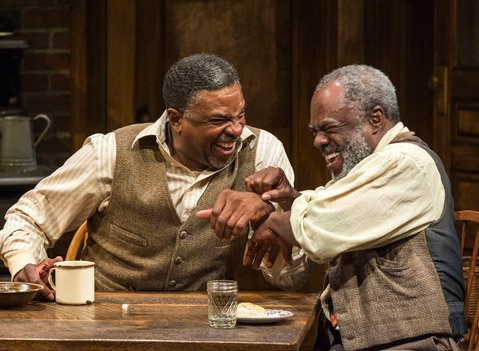 Keith David and Glynn Turman in August Wilson's <em>Joe Turner's Come and Gone</em>.