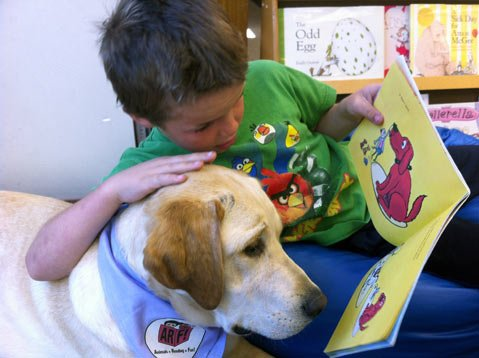"Jake and ""Buddy"" at Hope Elementary"