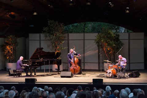 <b>PLUS ONE: </b>The Bad Plus played to a packed Libbey Bowl on Thursday.