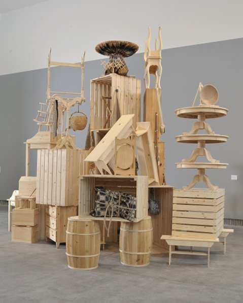 "<b>CAKE-STAND ART:</b>  ""Stockpile,"" by Allison Smith, will be one of the pieces in the Santa Barbara Museum of Art's Labour and Wait exhibition."