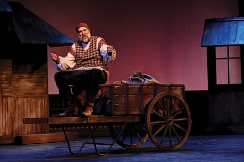 <b>UP ON THE ROOF:</b>  That's where Tevye (Erik Stein) wants to be in PCPA's current production of <i>Fiddler on the Roof</i>.
