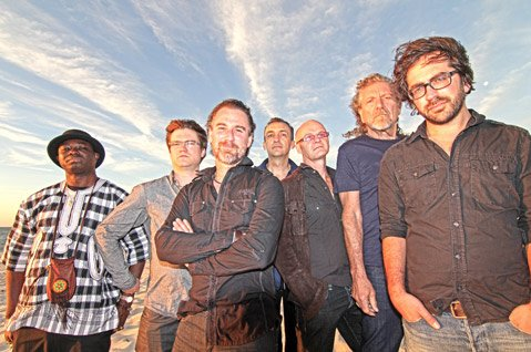 "<b>SPACE AND TIME:</b>  Robert Plant & the Sensational Space Shifters are (from left) Juldeh Camara, Dave Smith, Liam ""Skin"" Tyson, Justin Adams, John Baggott, Robert Plant, and Billy Fuller. They'll headline the Santa Barbara Bowl on June 28."