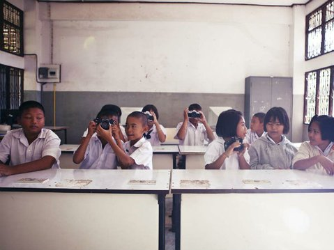 Students of the Lern2Give Project in the Thailand province of Sisaket.