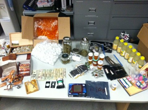 Items recovered from Alan Pugliese's apartment