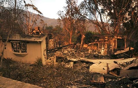 The Schiffer house shortly after the Jesusita fire destroyed it.