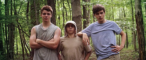 <b>THE LIVING'S EASY:</b>  <i>The Kings of Summer</i> is the coming-of-age story of three teen boys (from left: Gabriel Basso, Nick Robinson, and Moisés Arias) who go Thoreau in the Ohio woods.