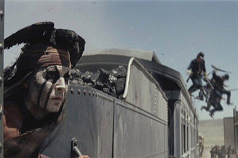 <b>WHAT IN TARNATION?</b>  Despite the heroic efforts of stars Johnny Depp and Armie Hammer to salvage it, <i>The Lone Ranger</i> is a tonal train wreck.