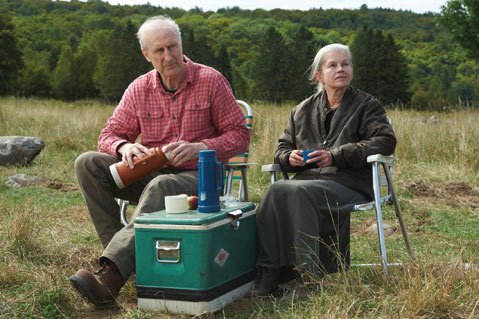 <b>LOSING IT:</b> James Cromwell and Geneviève Bujold star in Still Mine as an elderly couple struggling to keep their farm running in the face of bureaucratic opposition and declining health.