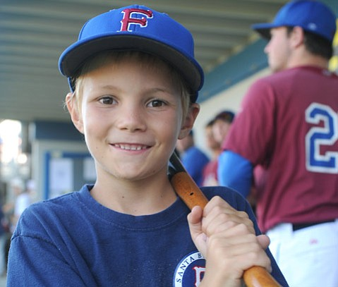 <b>BATTER UP:</b> Samuel Helfand, a Foresters Hugs for Cubs kid, will be the benefi ciary of this weekend's Keiki Paddle.