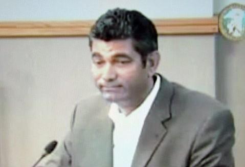 Dilip Ram speaks to the Santa Barbara County Board of Supervisors