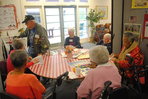 A typical Monday morning at the Goleta Friendship Center.